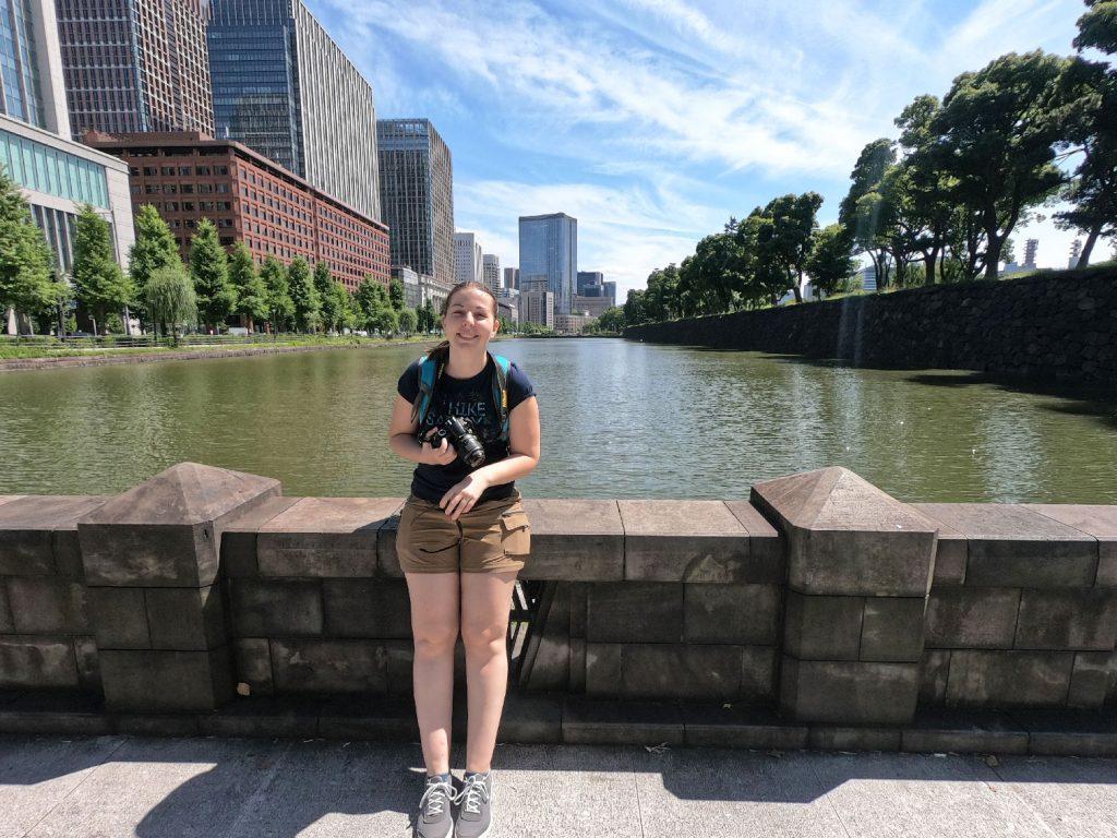 Claire avant d'arriver aux abords du Palais Impérial de Tokyo
