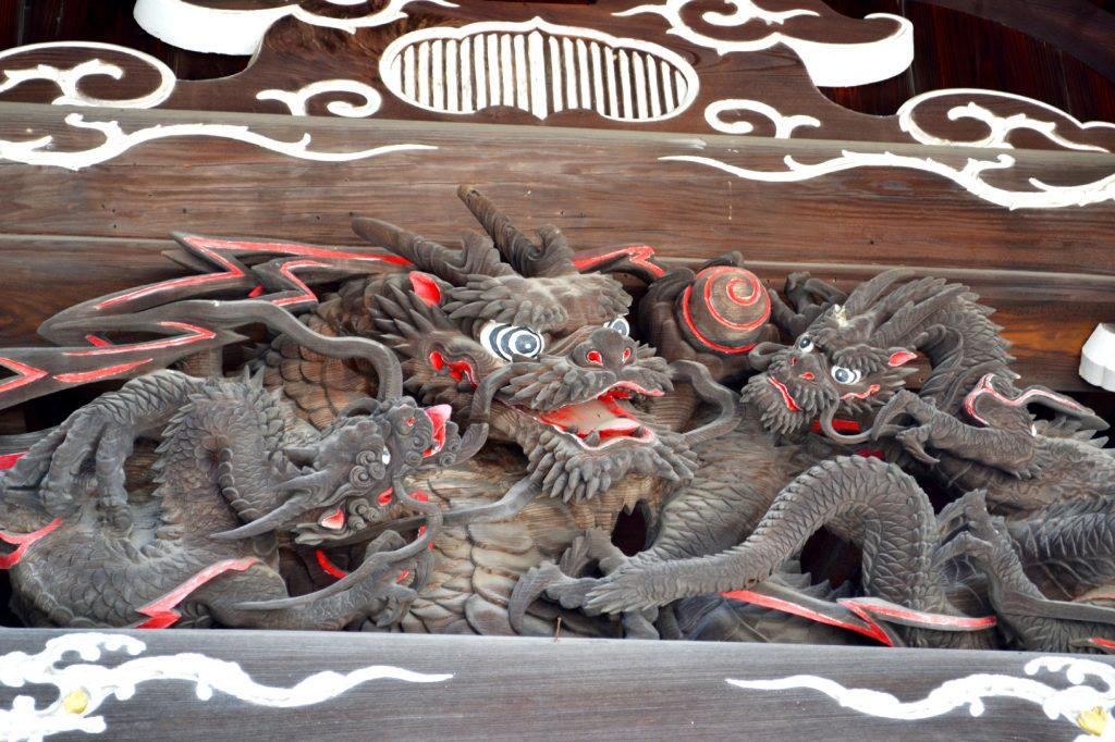 Ornement du temple Motoyama Jiunzanzuirin