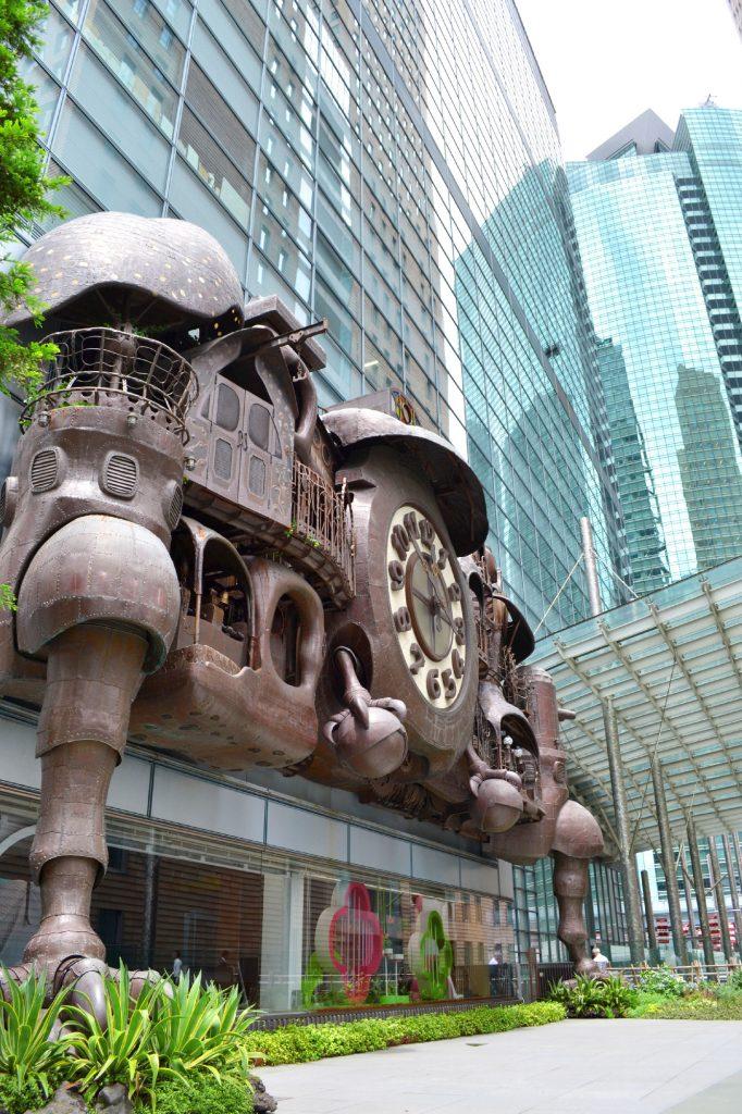 """L'horloge Ghibli dans le quartier de Ginza, inspirée du film """"Le château ambulant"""""""
