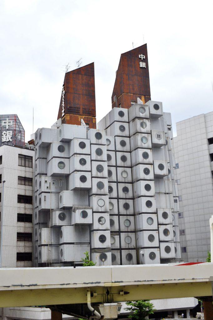 Nakagin Capsule Tower - une sorte d'architecture modulaire créée en 1970