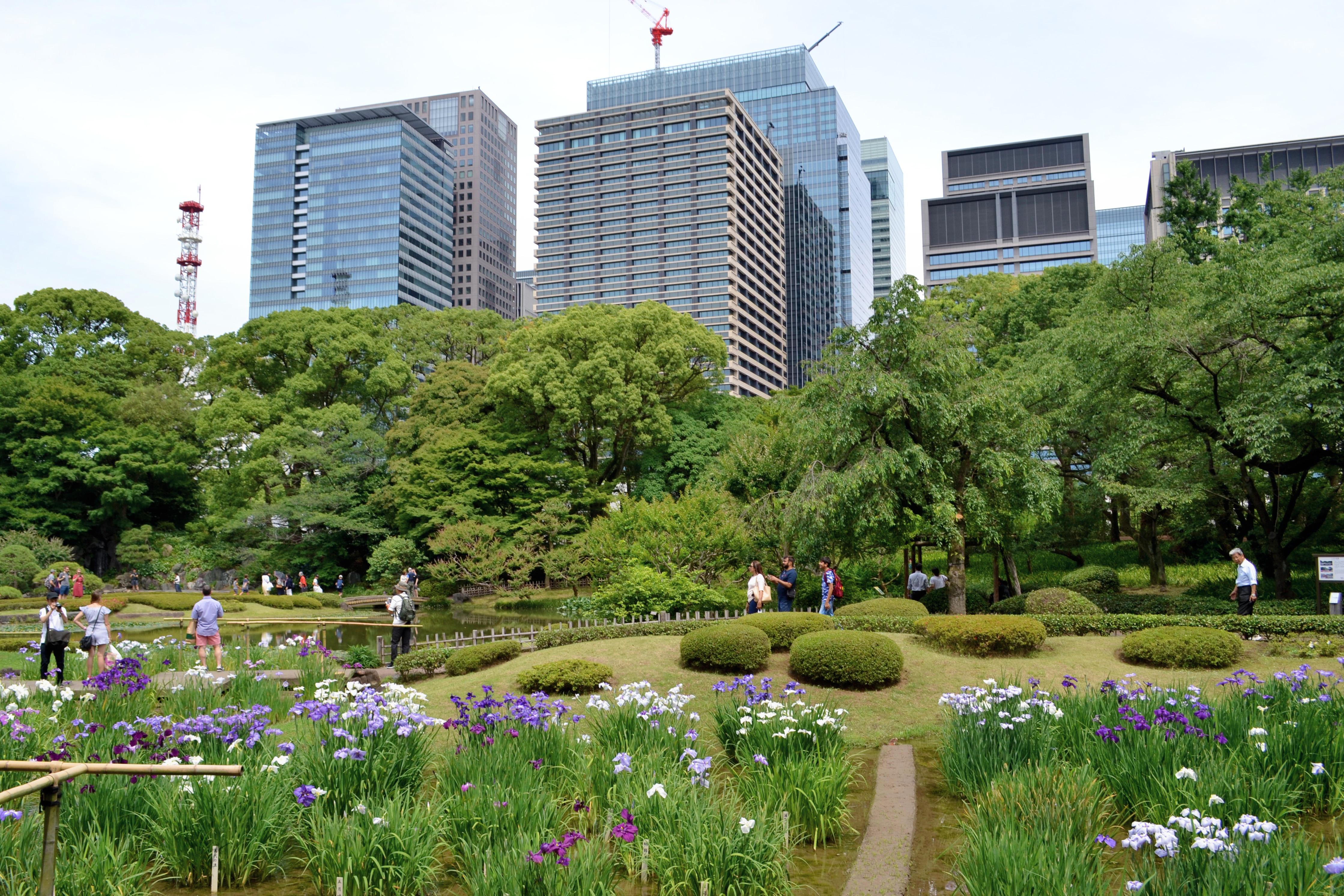 La jardin oriental du Palais Impérial de Tokyo