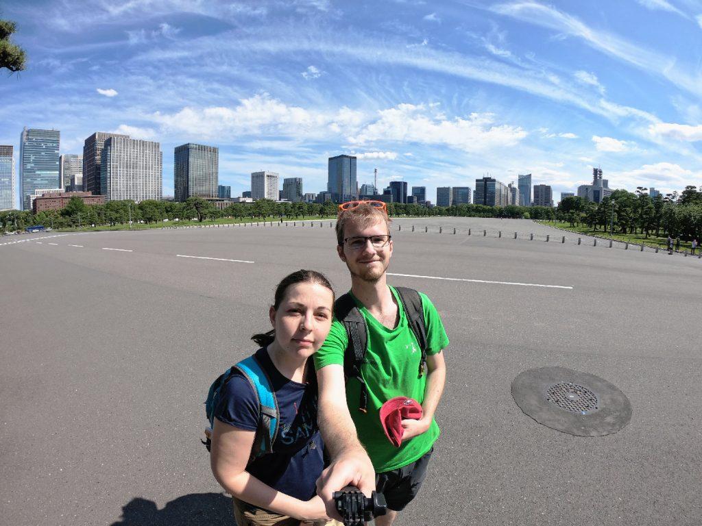 Selfie sur l'esplanade devant le Palais Impérial