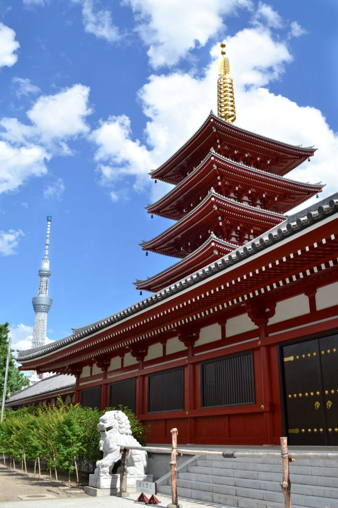 La pagode à 5 niveaux du Sensō-ji