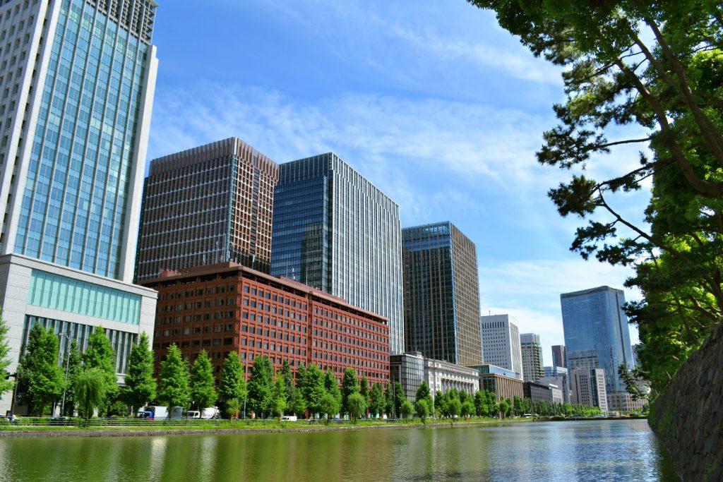La ville aux abords du Palais Impérial de Tokyo