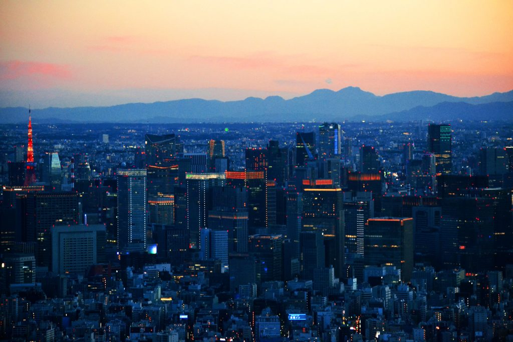 Tokyo by night, son quartier d'affaires