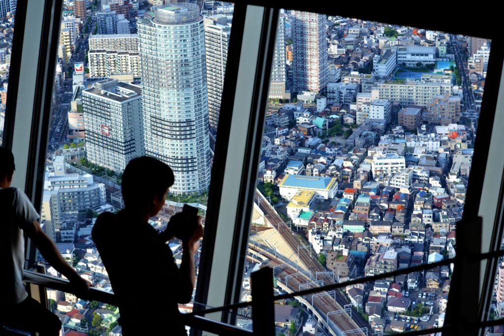 Vue plongeante depuis la Tokyo Sky Tree