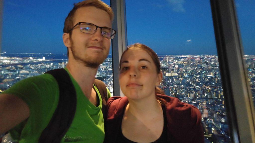 Selfie sur la Tokyo Sky Tree