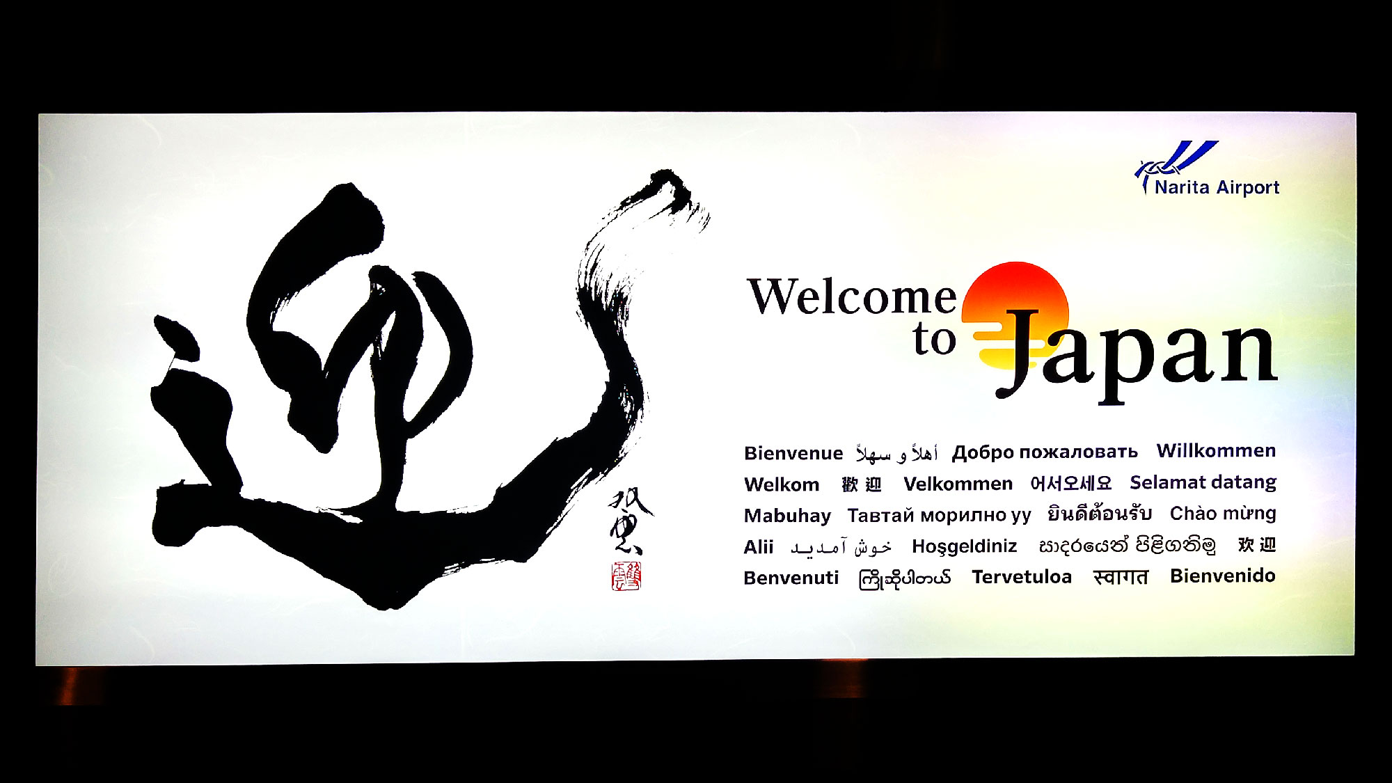 Nos premiers pas sur le sol japonais à l'aéroport de Tokyo - Juste Ici - Le blog de voyage de Claire et Vincent