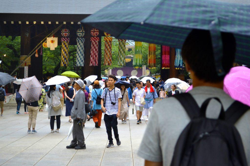 Le Mitama Matsuri sous la pluie
