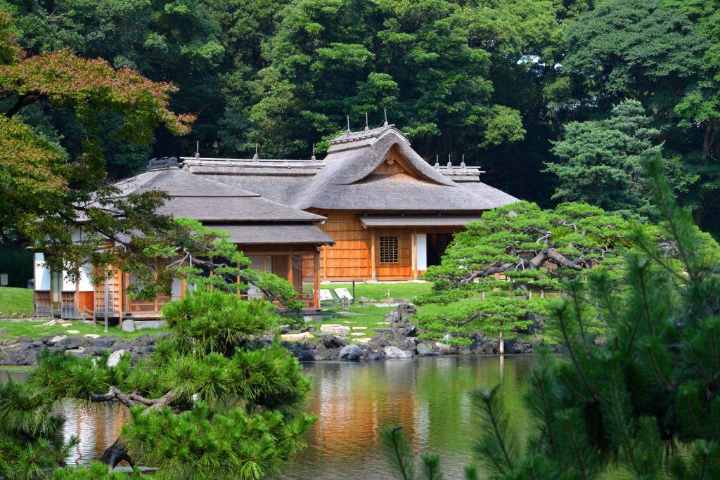 Okiya (maison de thé) du jardin Hamarikyu
