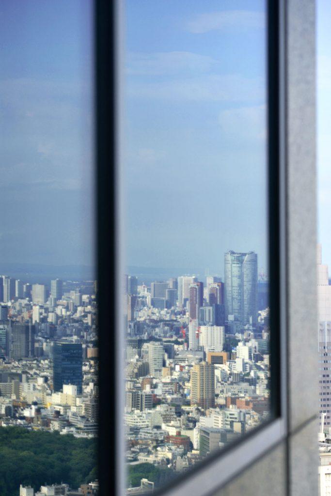Vue sur Tokyo depuis le Metropolitan Building