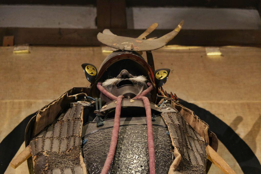 Une armure de samuraï ans le musée de la maison Aoyagi