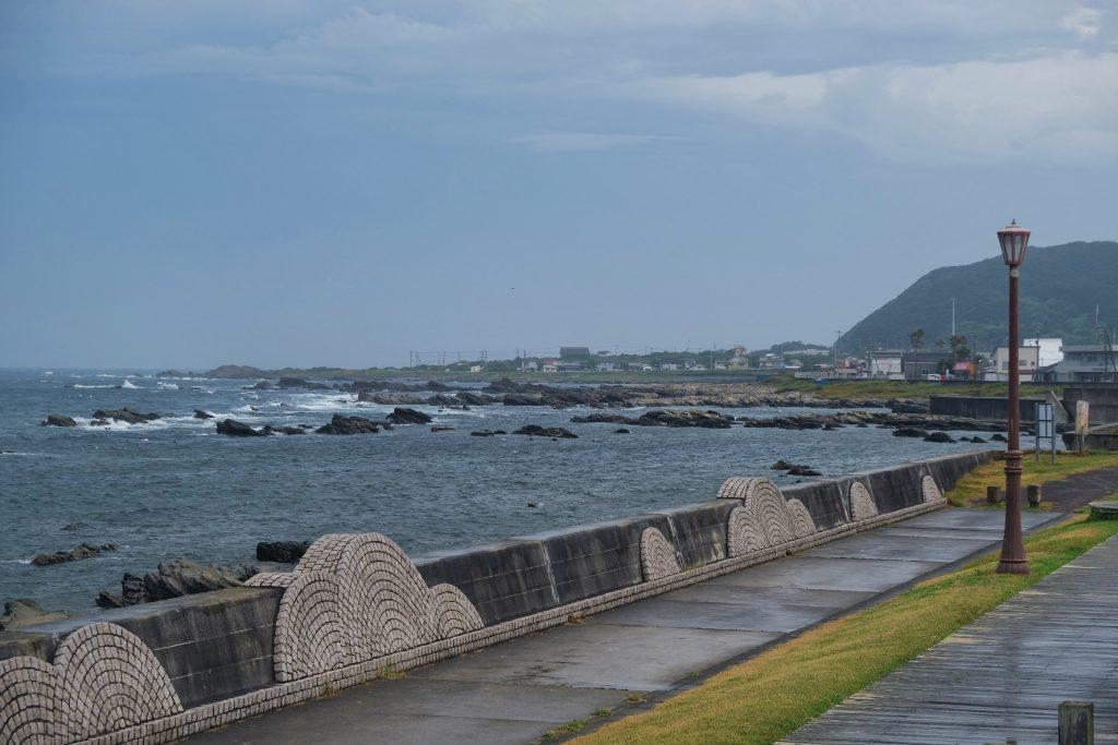Le bord de mer dans la péninsule de Chiba