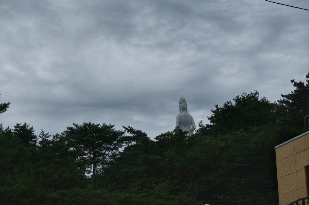 Le bouddha géant, fermé quand on y est passé