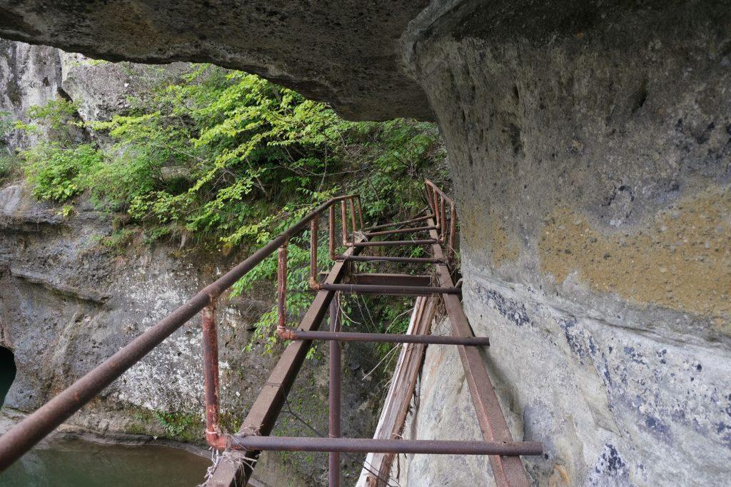 Un chemin abandonné des gorges de To-no-Hetsuri