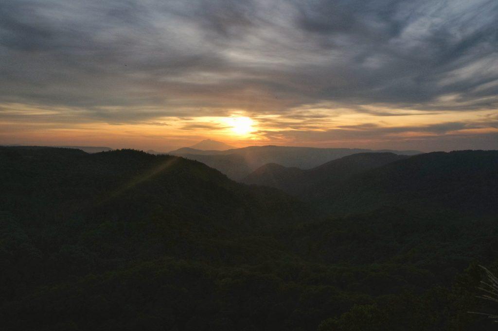 Coucher de soleil sur le parc national Towada-Hachimantai