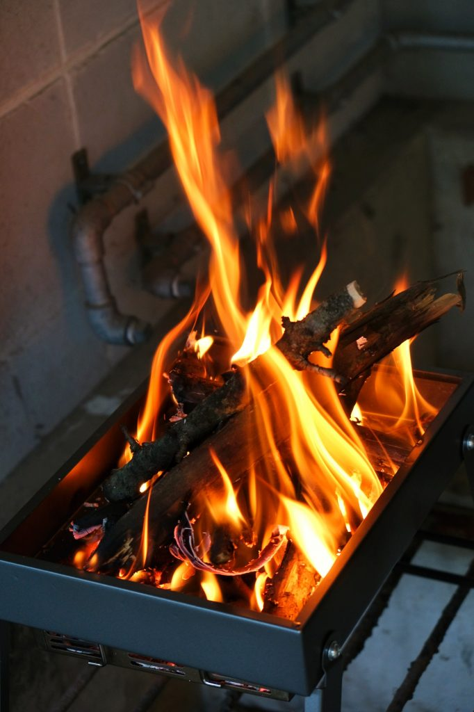 Première utilisation de notre barbecue en camping