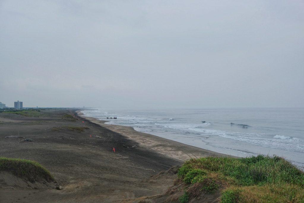 L'immense plage de la péninsule de Chiba