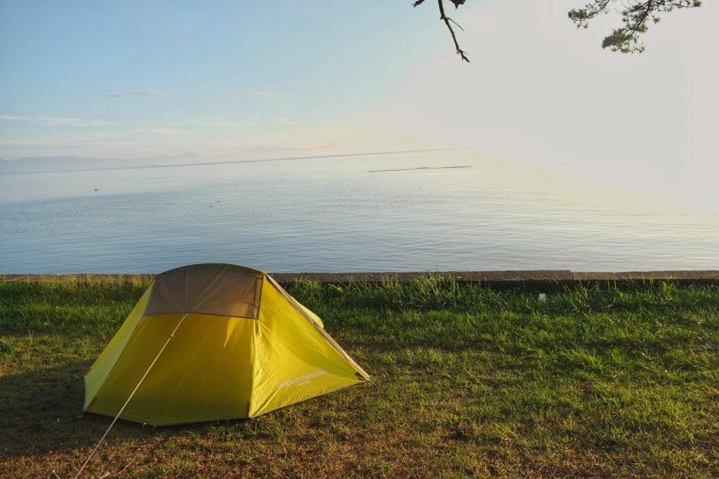 Lever de soleil sur notre tente