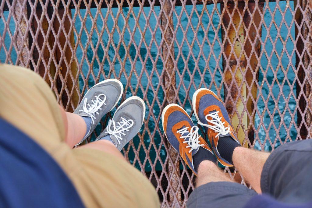 Les pieds sur l'eau