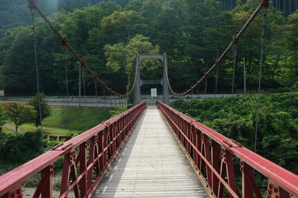 Le pont au départ du sentier des gorges de Dakigaeri