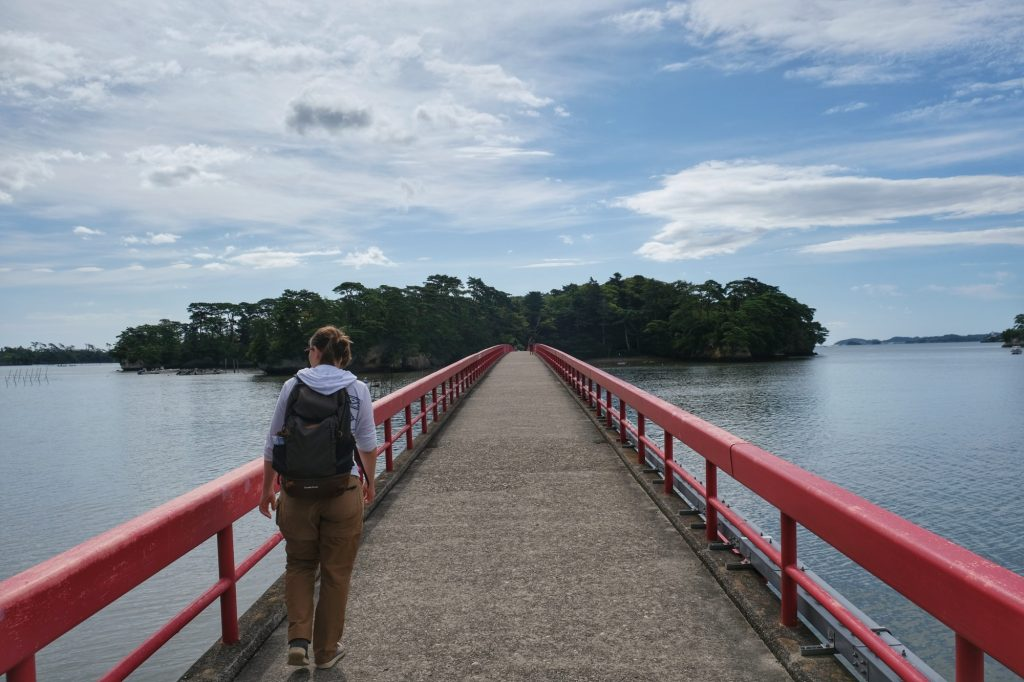Le pont de l'île de Fukuurajima de Matsushima