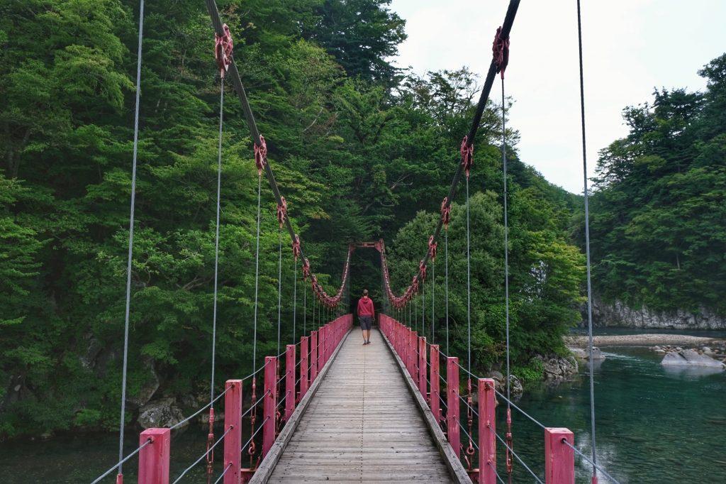 Le pont rouge du camping