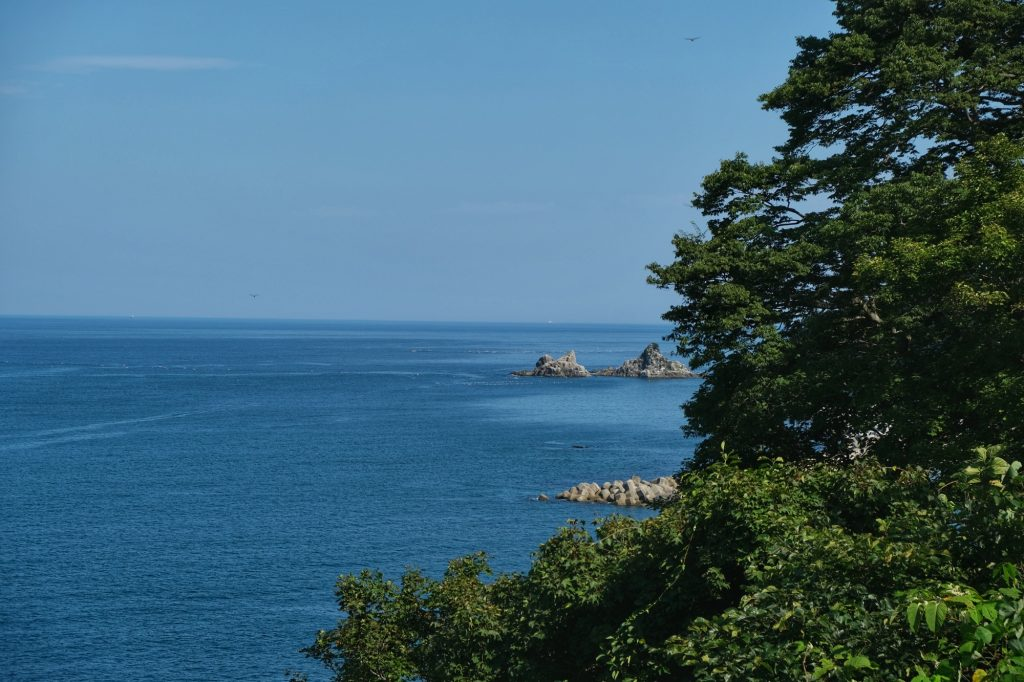 Le soleil sur les côtes de Sanriku Kaigan