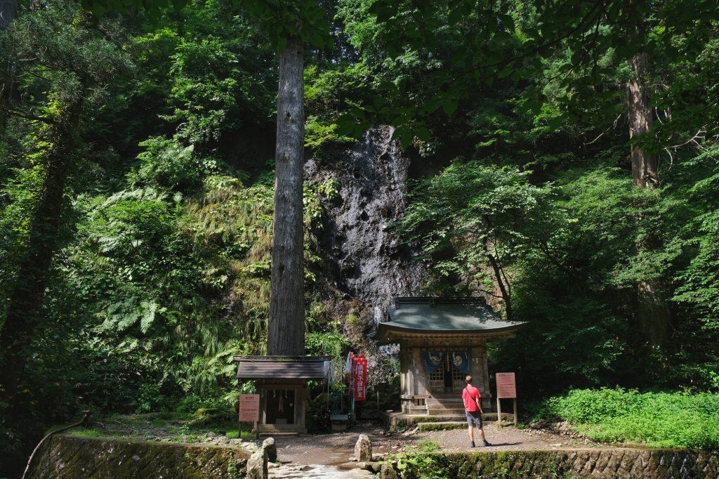 Un temple au départ du sentier du Mont Haguro