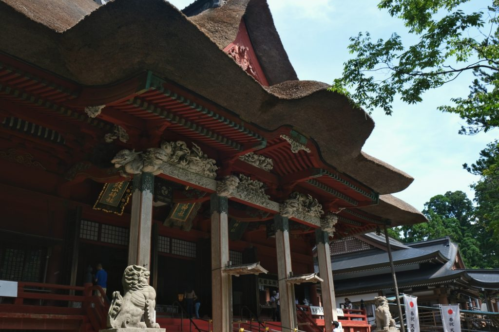 Le temple du Dewa Sanzan sur le Haguro San