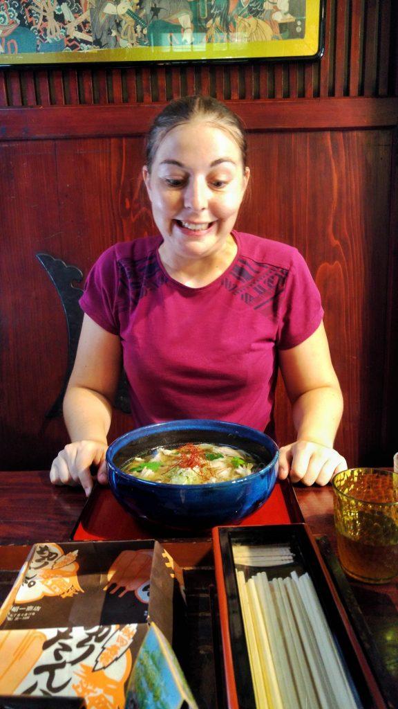 Les udon... c'est très bon !