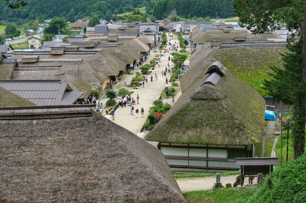 Le village aux toits de chaume d'Ouchi-juku