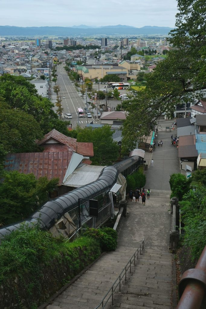 Vue de la ville depuis le temple Sazaedo