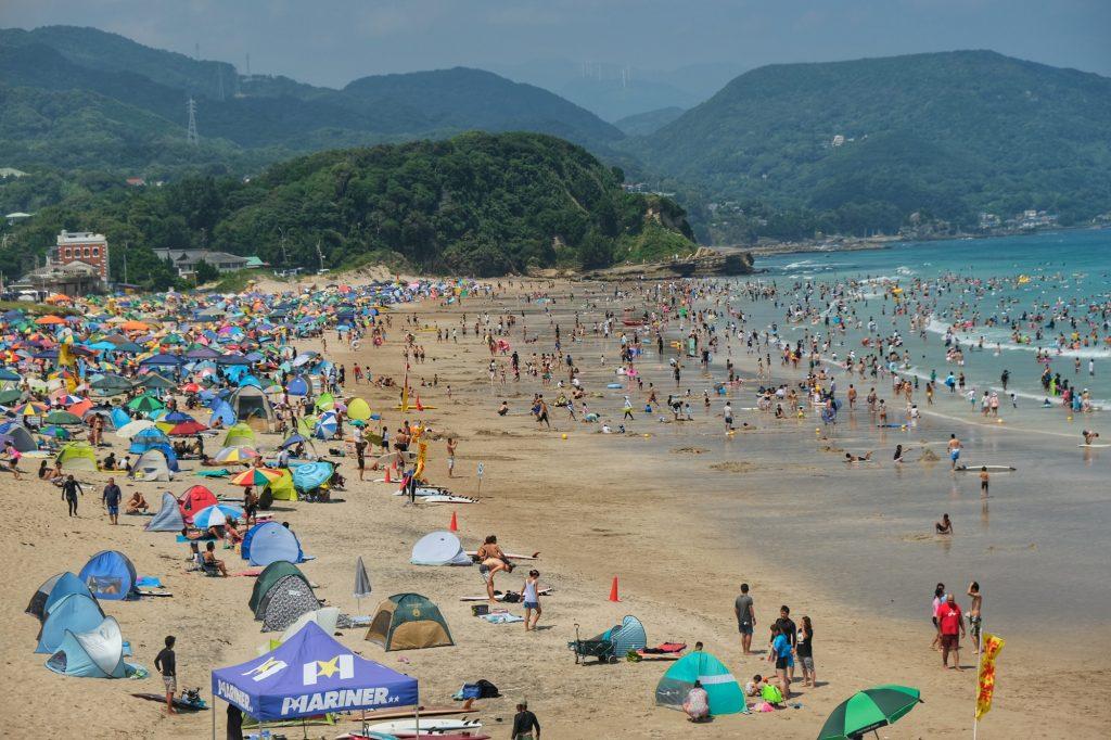La plage de Shirahama dans la péninsule d'Izu
