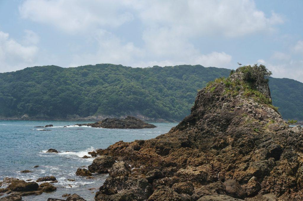 Un rocher en bord de mer à Shimoda