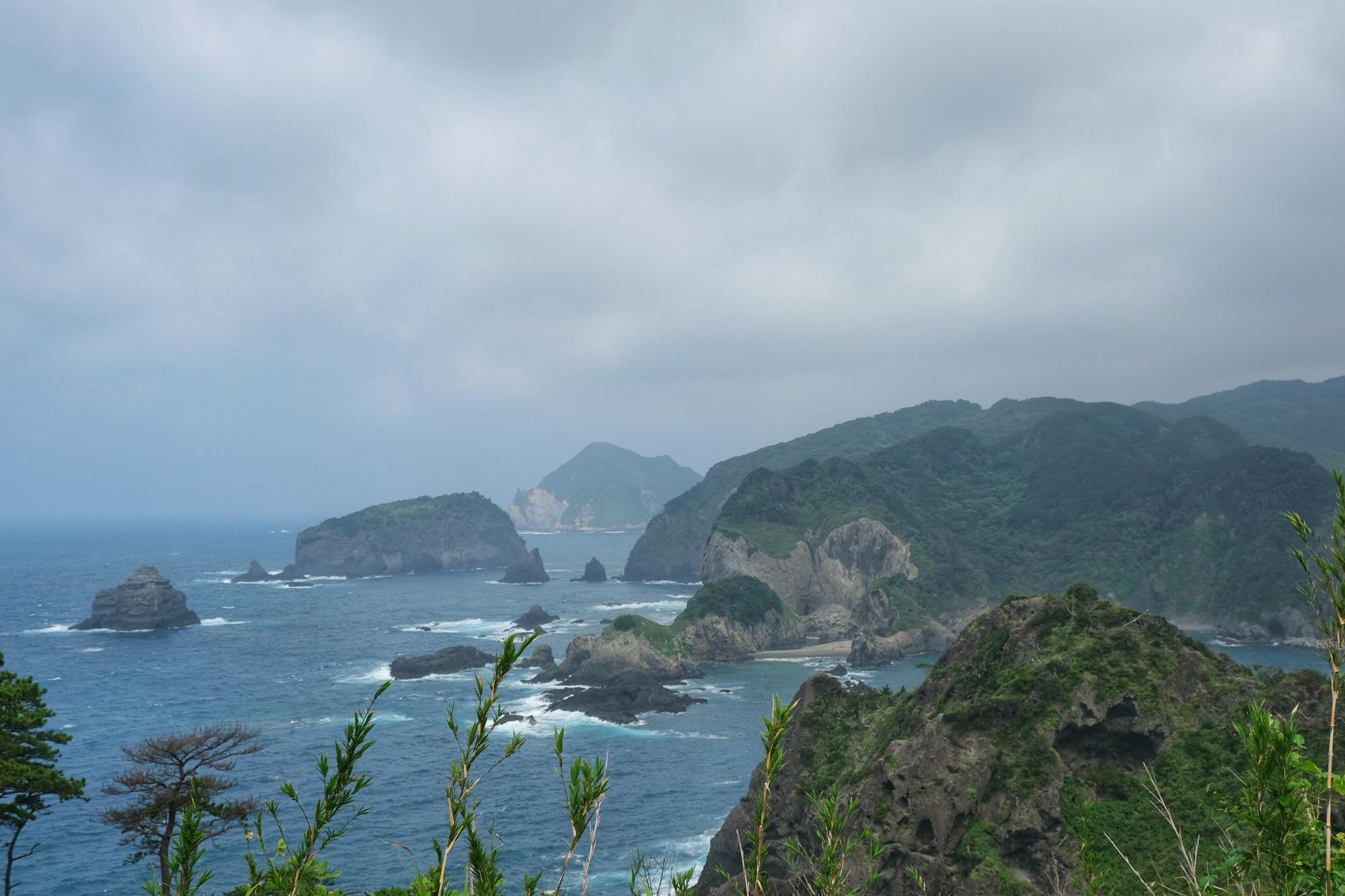 Vue de la côte depuis le parc Yusuge