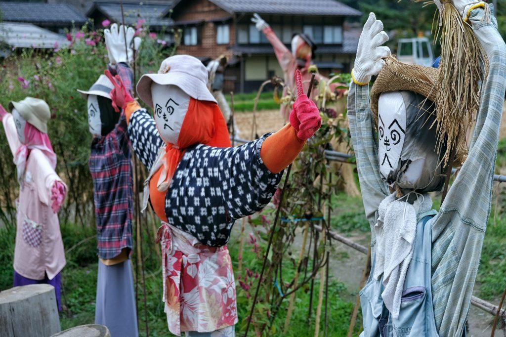 Les épouvantails de Ogimachi, Shirakawa-Go