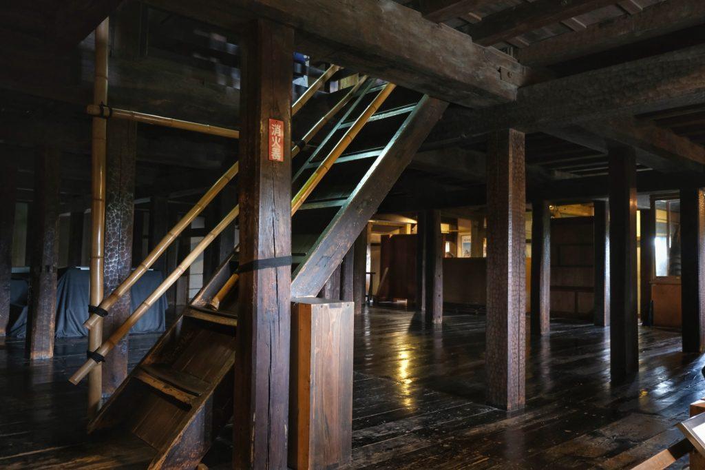 Escalier du château de Matsumoto