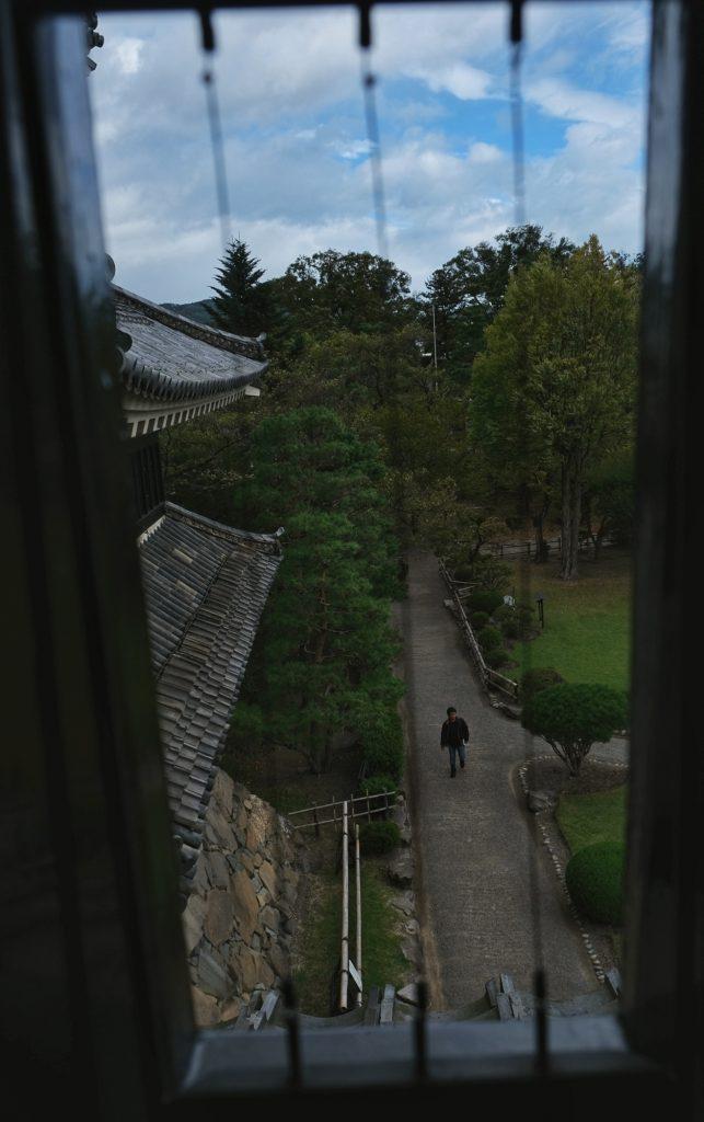 Les jardins vue depuis le château de Matsumoto