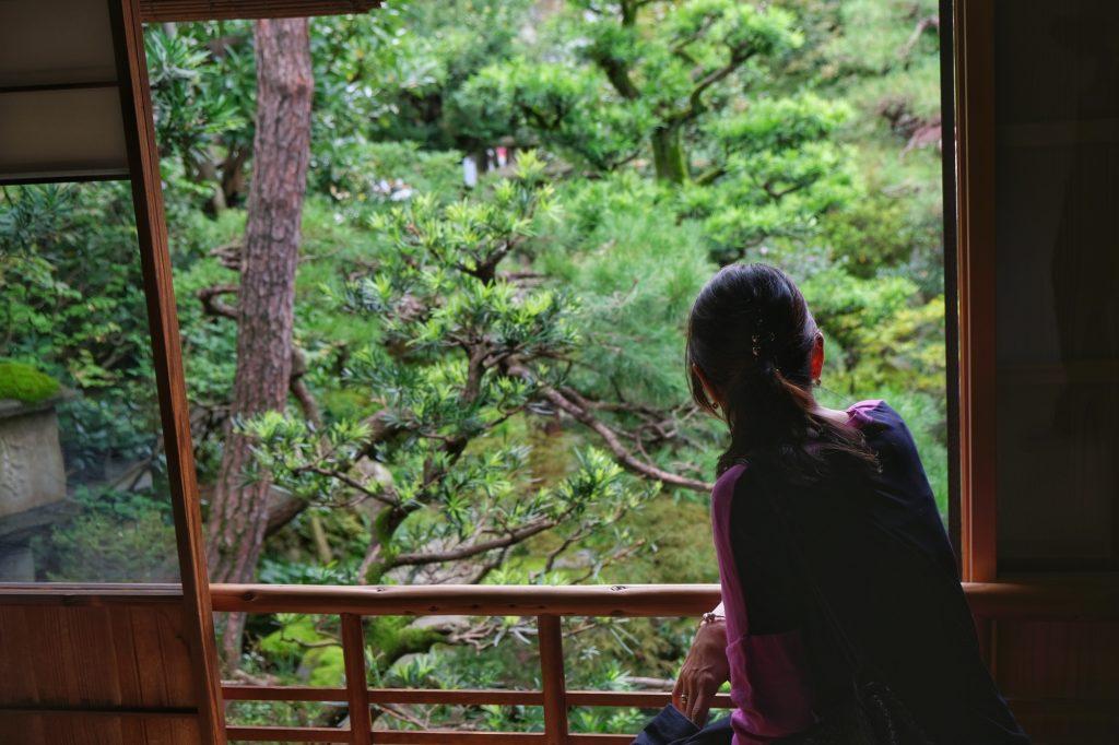 Contemplation du jardin, un moment de détente