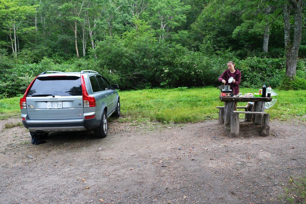 Le camping et sa cuisine