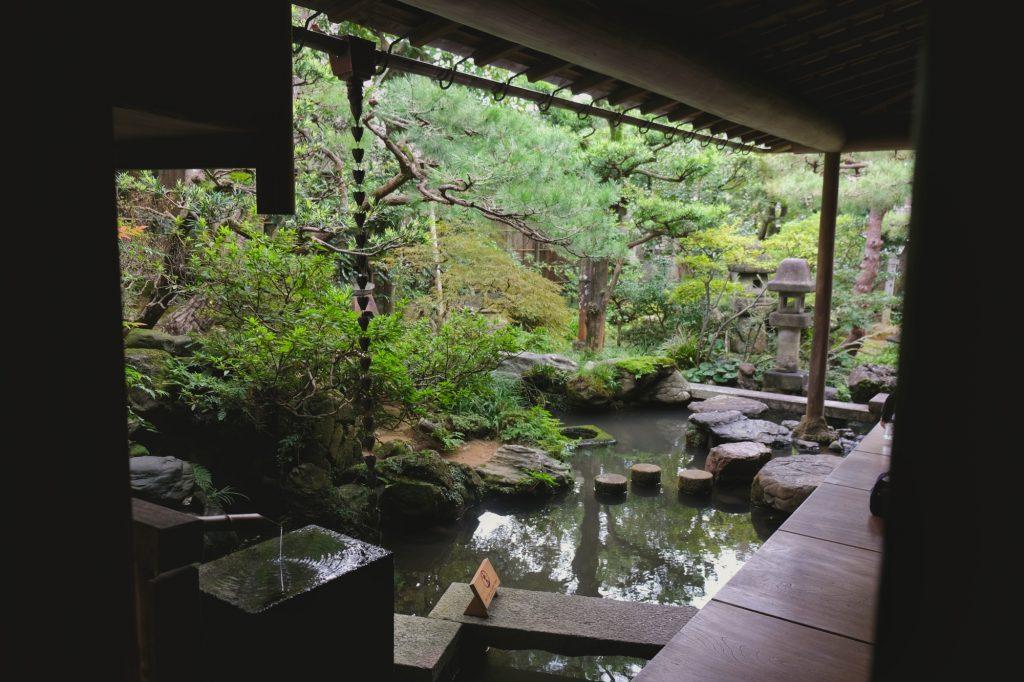 La jardin d'une maison de samouraï de Kanazawa
