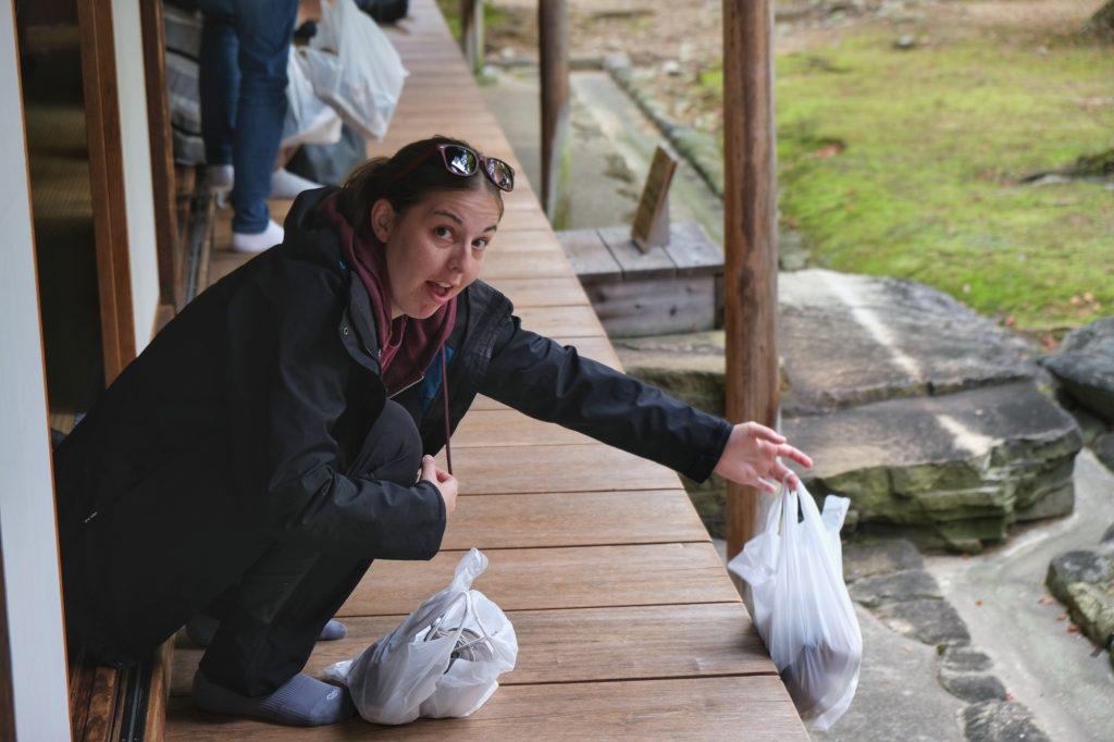 La menace des chaussures au Takayama Jinya