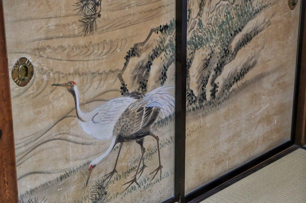 Motif d'une porte d'une maison d'Ogimachi