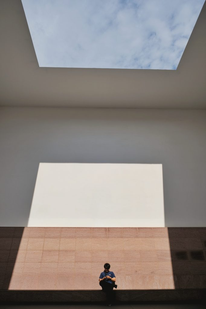 Toit ouvert dans le musée du XXIe siècle de Kanazawa