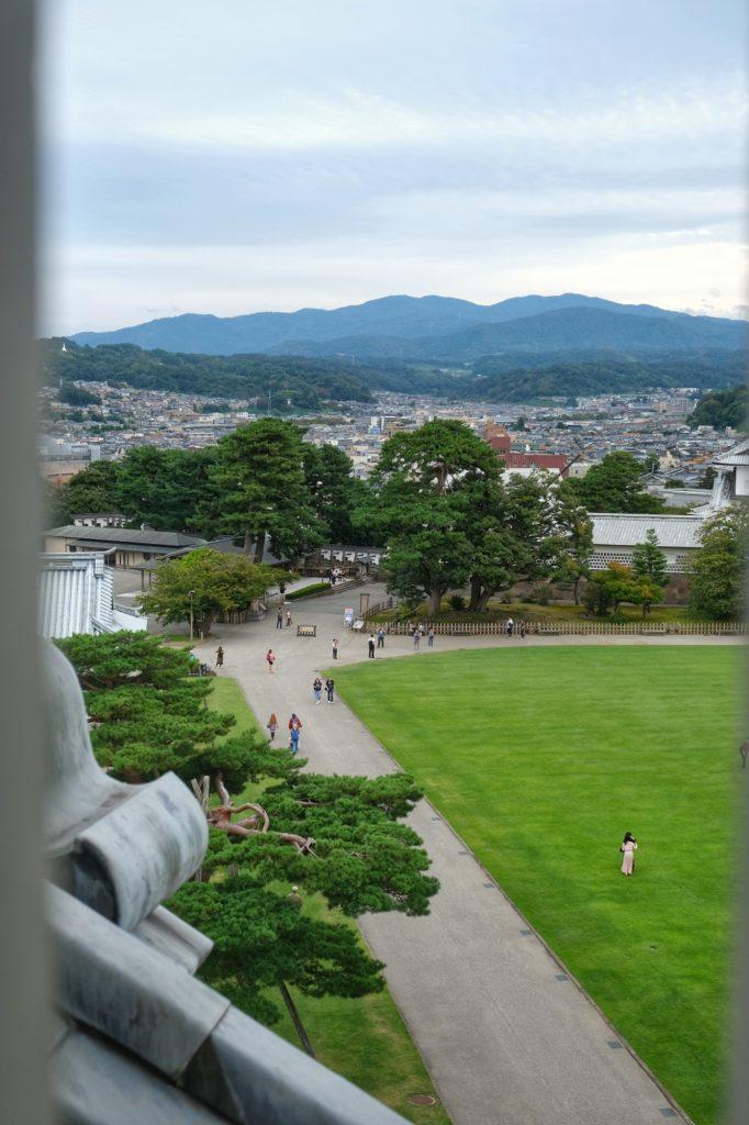 Vue de Kanazawa depuis le château