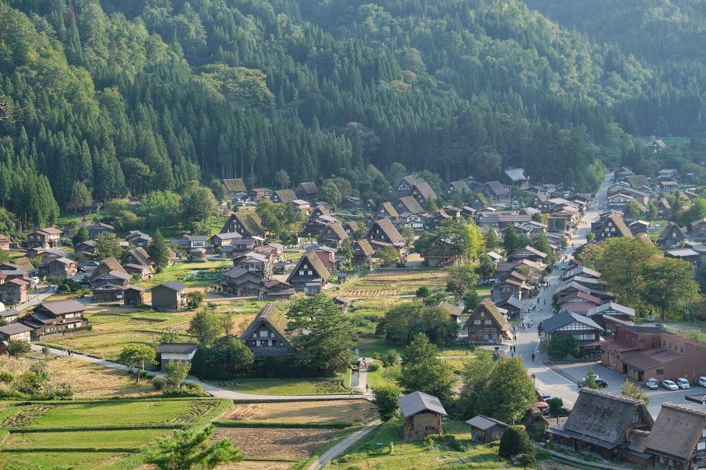 Vue d'Ogimachi, Shirakawa-Go