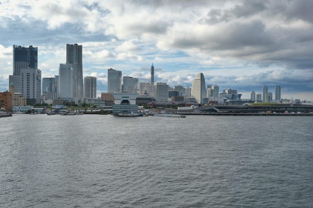 Les immeubles modernes de la ville de Yokohama