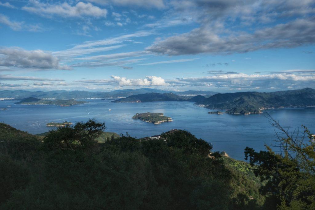 Vue depuis les hauteurs de Miyajima