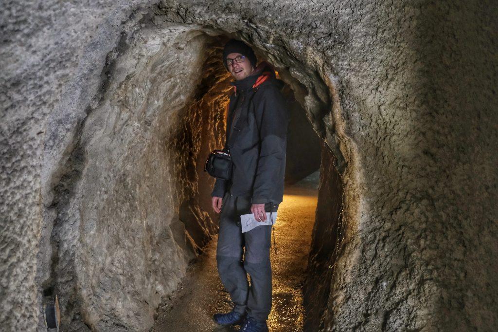 Le tunnel aménagé pour les visiteurs dans la mine d'Iwami Ginzan